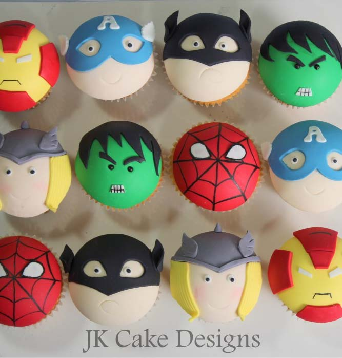 Avengers Character Cupcakes