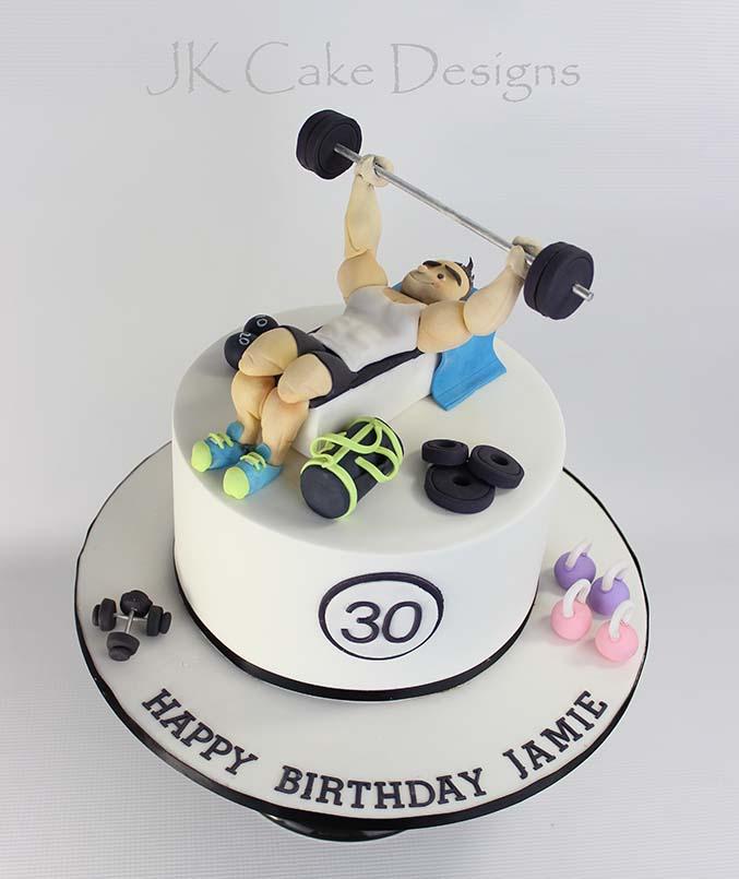 Gym Themed Birthday Cake Jk Cake Designs