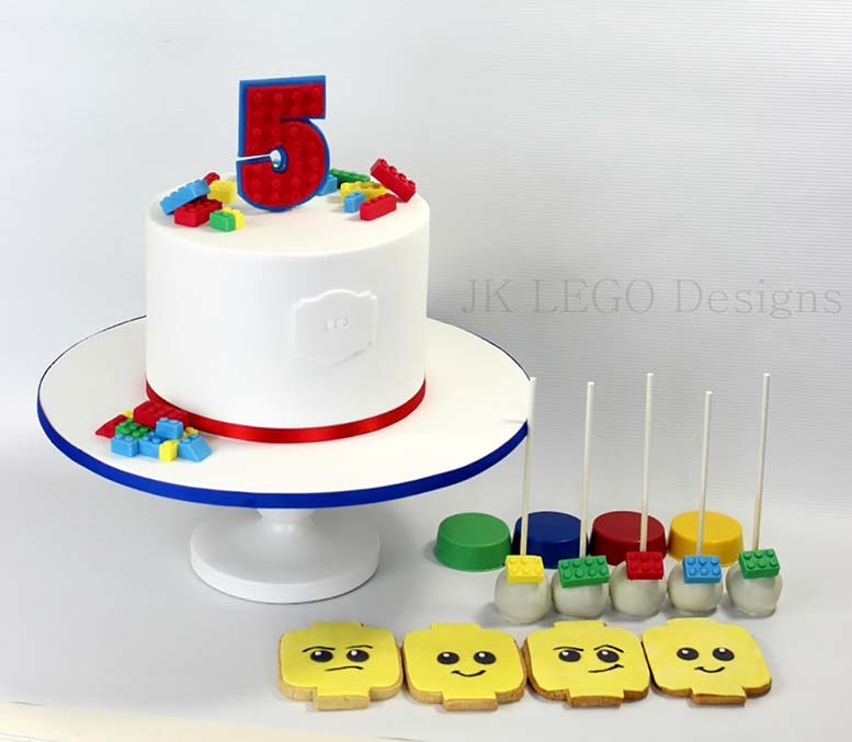 Single Tier Lego Themed Birthday Cake