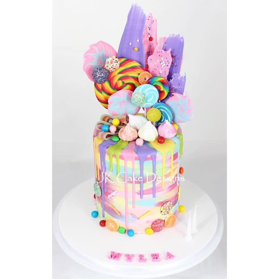 Lollipop Rainbow Cake