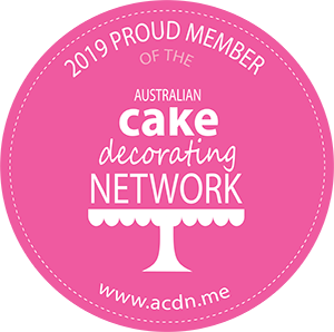 2019 Pround Member of Austrlian Cake Decorating Network