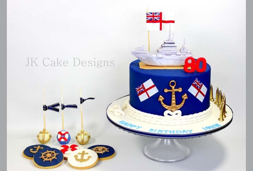 Outstanding Royal Navy Themed Cake Jk Cake Designs Funny Birthday Cards Online Fluifree Goldxyz