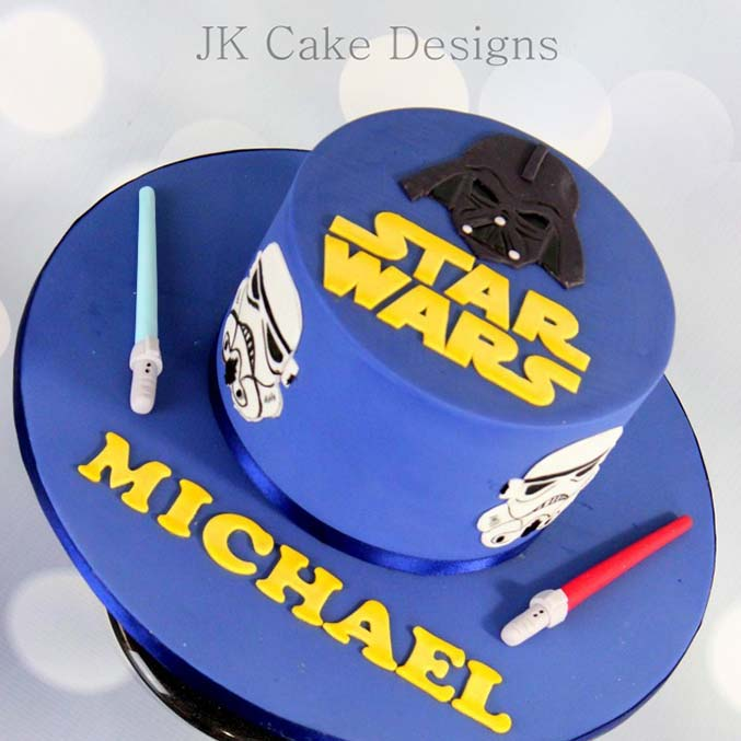 Remarkable Single Tier Star Wars 2D Character Cake Jk Cake Designs Funny Birthday Cards Online Eattedamsfinfo