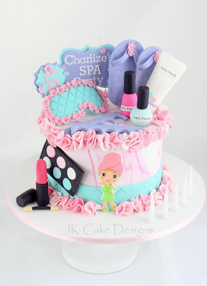 Magnificent Pamper Party Jk Cake Designs Funny Birthday Cards Online Necthendildamsfinfo