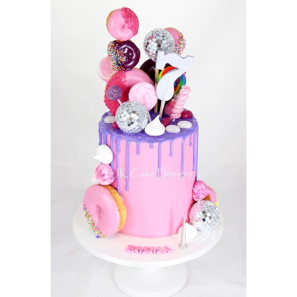 Astounding Disco Drip Lollipop Cake Jk Cake Designs Funny Birthday Cards Online Hendilapandamsfinfo