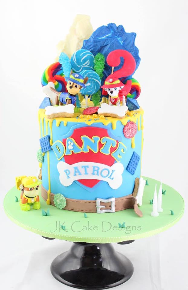 Fabulous Paw Patrol Lollipop Drip Cake Jk Cake Designs Birthday Cards Printable Inklcafe Filternl