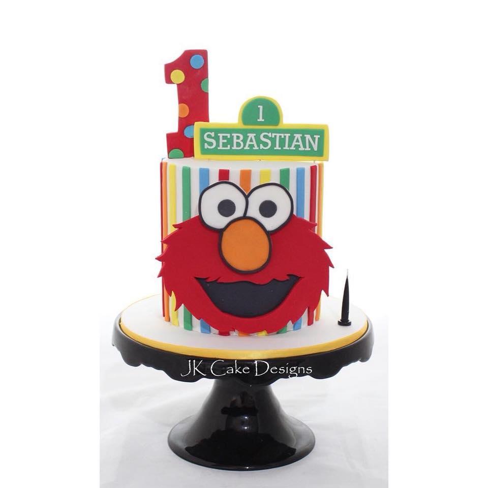 Amazing Sesame Street Elmo Cake Jk Cake Designs Personalised Birthday Cards Petedlily Jamesorg