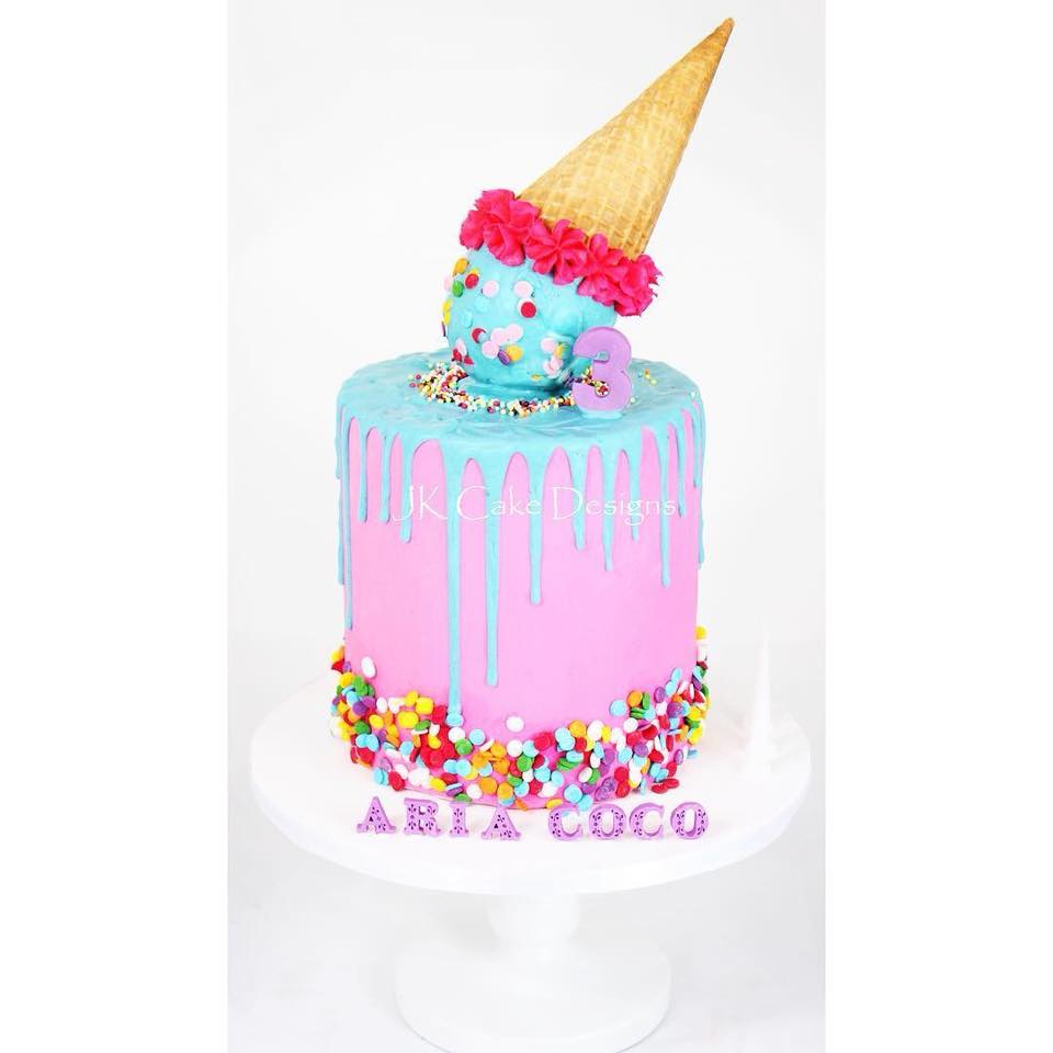 Admirable Upside Down Ice Cream Drip Cake Jk Cake Designs Funny Birthday Cards Online Bapapcheapnameinfo
